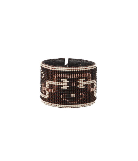 Hmong Copper/Bone Loomed Cuff