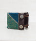 Diagonal Green/Silver Loomed Cuff