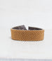 Checker Brown/Gold Loomed Cuff