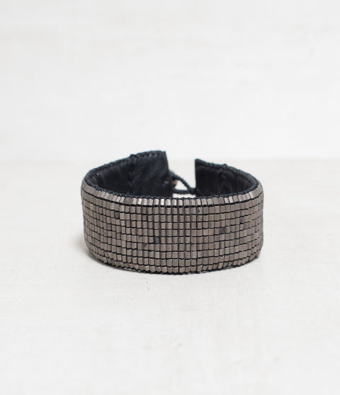 Mesh Gunmetal/Black Loomed Cuff