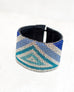 Triangle Blue/Silver Loomed Cuff