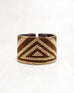 Triangle Brown/Gold Loomed Cuff