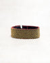 Checker Black/Gold Loomed Cuff