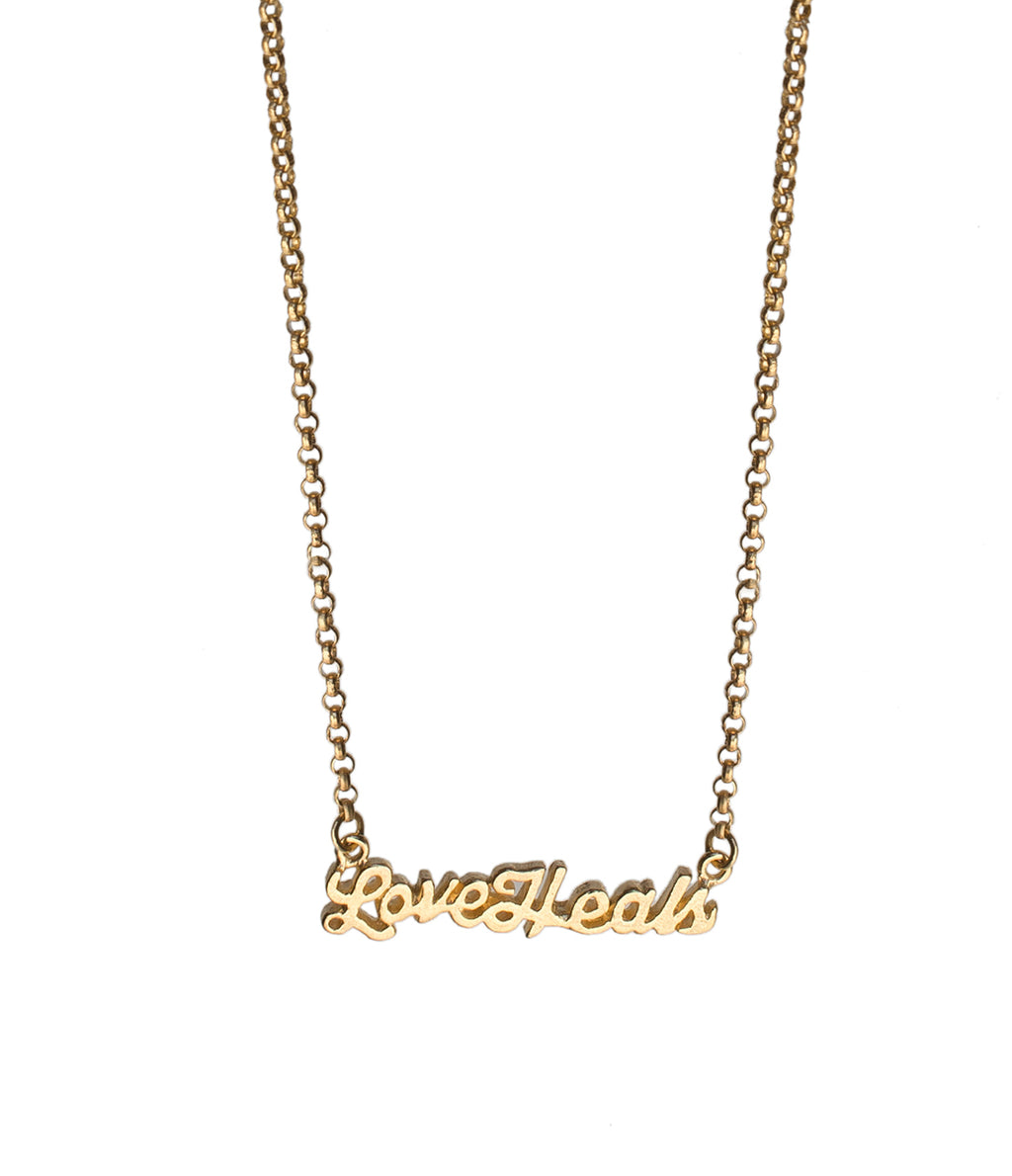 Love Heals Necklace Gold