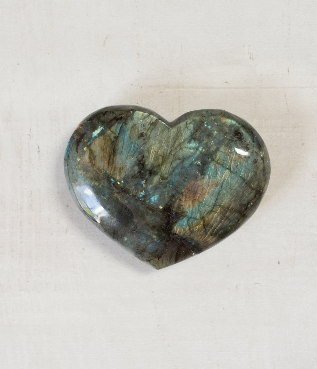 Labradorite Flash Heart Crystal