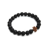 Lava Stone Cross Bracelet Offer