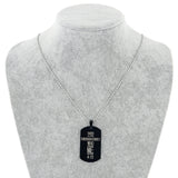Bible Cross Dog Tag Stainless Steel Necklace Offer