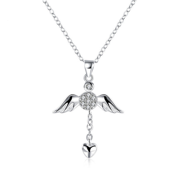 Angel Wing Cross Necklace