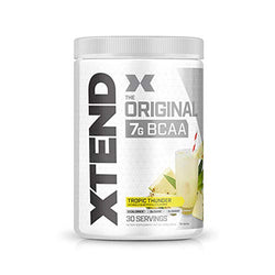 Scivation XTEND Original BCAA Powder Tropic Thunder | Sugar Free Post Workout Muscle Recovery Drink with Amino Acids | 7g BCAAs for Men & Women | 30 Servings