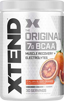 Scivation XTEND Original BCAA Powder Italian Blood Orange | Sugar Free Post Workout Muscle Recovery Drink with Amino Acids | 7g BCAAs for Men & Women | 30 Servings