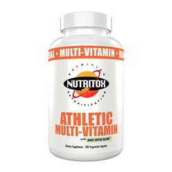 Nutritox Athletic Multi-Vitamin. All Natural Daily Antioxidant and Recovery Vitamin for Active Lifestyles. Made with Unflavored Vegetarian Capsules (180 count)