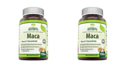 Herbal Secrets Maca 750 mg 6:1 Concentrate 90 Capsules - Supports Reproductive Health - Energizing Herb* (Pack of 2)