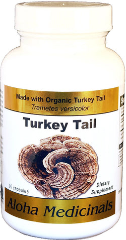 Organic Pure Turkey Tail (Trametes Versicolor) by Aloha Medicinals - 90 Capsules, Aloha Medicinals - Wholesome Dynamics