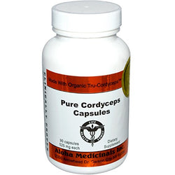 Certified Organic Cordyceps Synensis - Energy and Stamina 525mg 90 Veggie Caps, Aloha Medicinals - Wholesome Dynamics