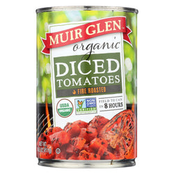 Muir Glen Fire Roasted Diced Tomatoes - Tomatoes - Case Of 12 - 14.5 Oz.