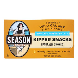 Season Brand Norwegian Kipper - Salt Added - Case Of 24 - 3.25 Oz.