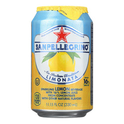 S. Pellegrino Lemon Sparkling Water  - Case Of 4 - 6-11.1oz