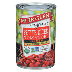 Muir Glen Diced Adobo Fire Roasted Tomato - Tomato - Case Of 12 - 14.5 Oz.