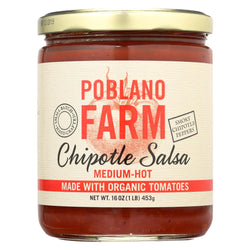 Poblano Farm - Chipotle Salsa - Medium Heat - Case Of 12 - 16 Oz.