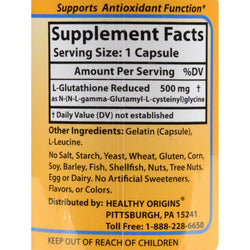 Healthy Origins Setria L-glutathione Reduced - 500 Mg - 150 Caps