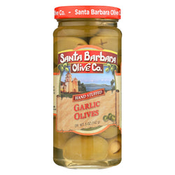 Santa Barbara Hand Stuffed Garlic Olives - Case Of 6 - 5 Oz