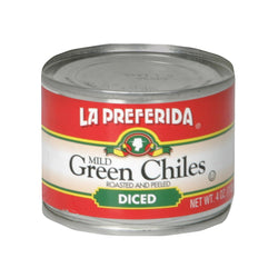 La Preferida Green Chiles - Diced - Case Of 24 - 4 Oz.