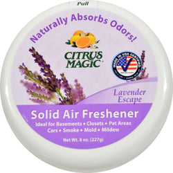Citrus Magic Odor Absorber - Solid Lavender - Case Of 6 - 8 Oz