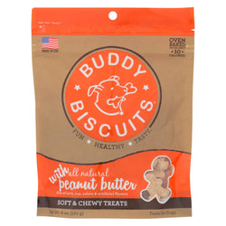 Cloud Star - Buddy Biscuits Soft And Chewy Treats - Peanut Butter - Case Of 12 - 6 Oz.