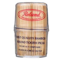 Roland Bamboo Toothpicks - Round - Case Of 12 - 300 Count