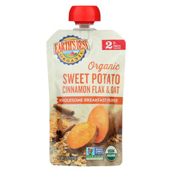 Earth's Best Organic Wholesome Breakfast Sweet Potato Cinnamon Pouch - Case Of 12 - 4 Oz.