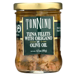 Tonnino Tuna Fillets - Oregano, Olive Oil - Case Of 6 - 6.7 Oz.