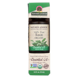 Nature's Answer - Organic Essential Oil - Sage - 0.5 Oz.
