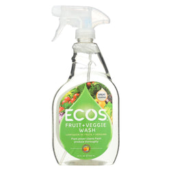 Earth Friendly Fruit And Vegetable Wash - Case Of 6 - 22 Fl Oz.