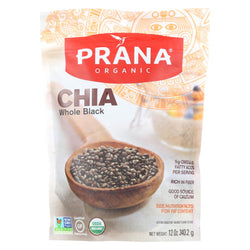 Prana Organics Chia - Organic - Whole - Black - Case Of 6 - 12 Oz
