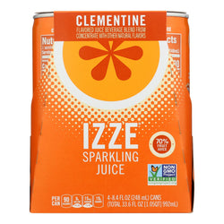 Izze - Can Sparkling Clementine - Case Of 6-4-8.4 Fl Oz.