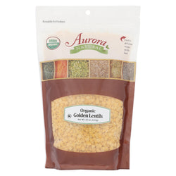 Aurora Natural Products - Organic Golden Lentils - Case Of 10 - 22 Oz.