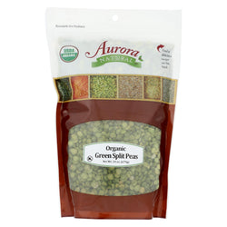 Aurora Natural Products - Organic Peas - Green Split - Case Of 10 - 24 Oz.