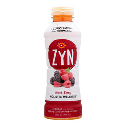 Zyn - Curcumin Drink - Mixed Berry - Case Of 12 - 16 Fl Oz.