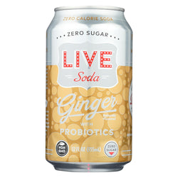 Live Soda - Soda Ginger Probiotic - Case Of 4-6-12 Fl Oz.
