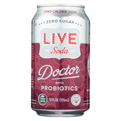 Live Soda - Soda Doctor Probiotic - Case Of 4-6-12 Fl Oz.