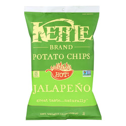 Kettle Brand - Potato Chips Jalapeno - Case Of 9 - 13 Oz