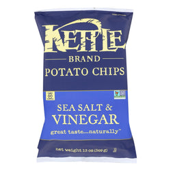 Kettle Brand - Potato Chps Sea Salt & Vngar - Case Of 9 - 13 Oz