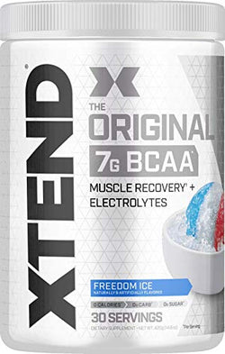 Scivation XTEND Original BCAA Powder Freedom Ice | Sugar Free Post Workout Muscle Recovery Drink with Amino Acids | 7g BCAAs for Men & Women| 30 Servings