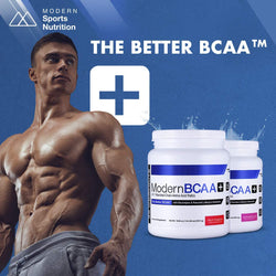 Modern BCAA+® The Better BCAA™ Amino Acids Supplements - Post Workout Muscle Recovery Powder Supplement Drink with Amino Acids - 30 Servings, Watermelon