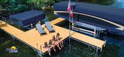 Floe 4x16' Roll-in Dock-Alumagrain