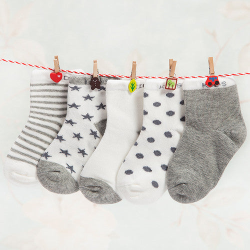 Everyday Casual Baby Socks - Grey
