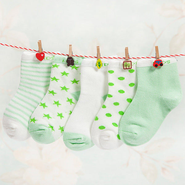 Everyday Casual Baby Socks - Green