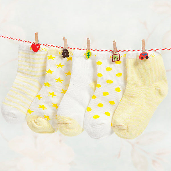 Everyday Casual Baby Socks - Yellow