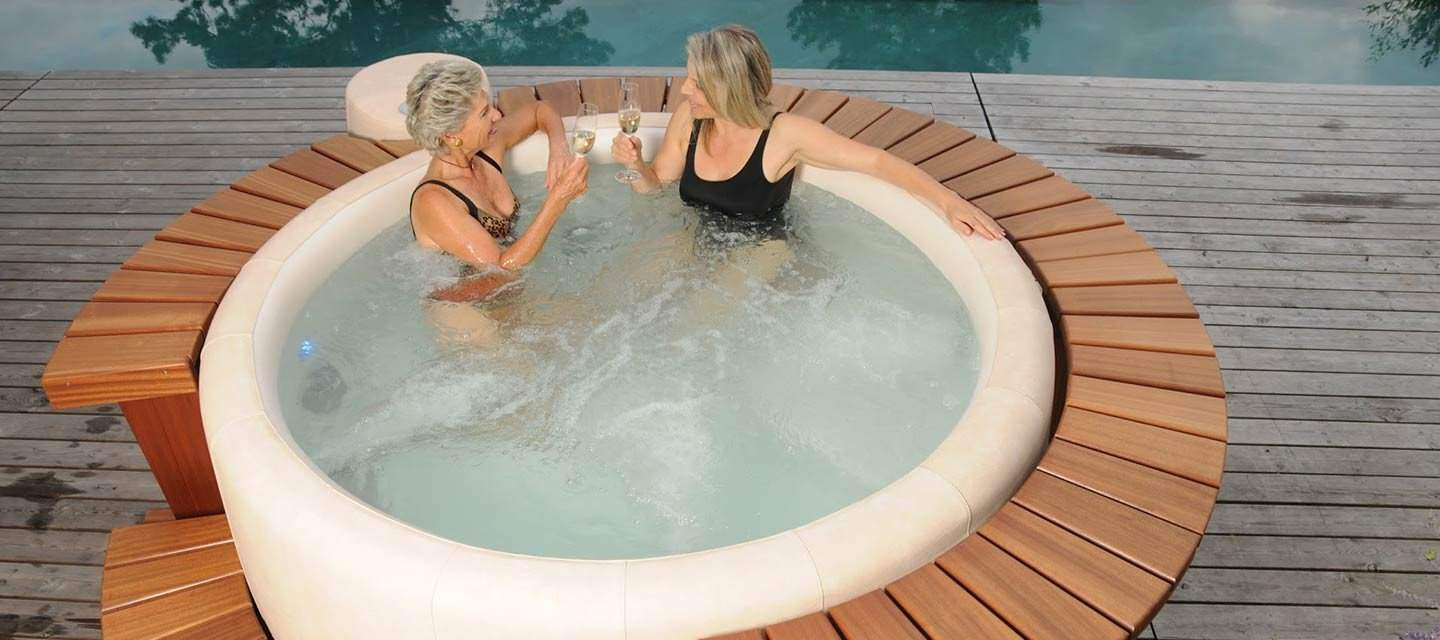 Women Enjoying Their 110v Hot Tub