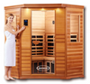 CLEARLIGHT PREMIER IS-C - Three Person Corner Far Infrared Sauna